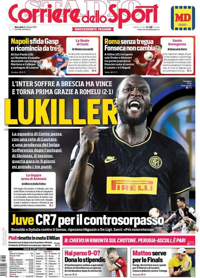 prima Pagina Corriere dello sport: