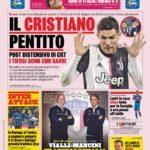"""Prima Pagina La Gazzetta dello Sport: """"Il Cristiano pentito"""""""