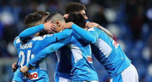 Sassuolo-Napoli abbraccio gds