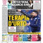 """Prima pagina Corriere dello sport: """"Terapia d'urto"""""""