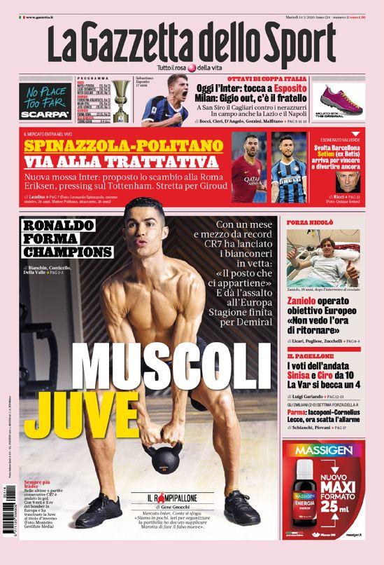 prima pagina gazzetta dello sport
