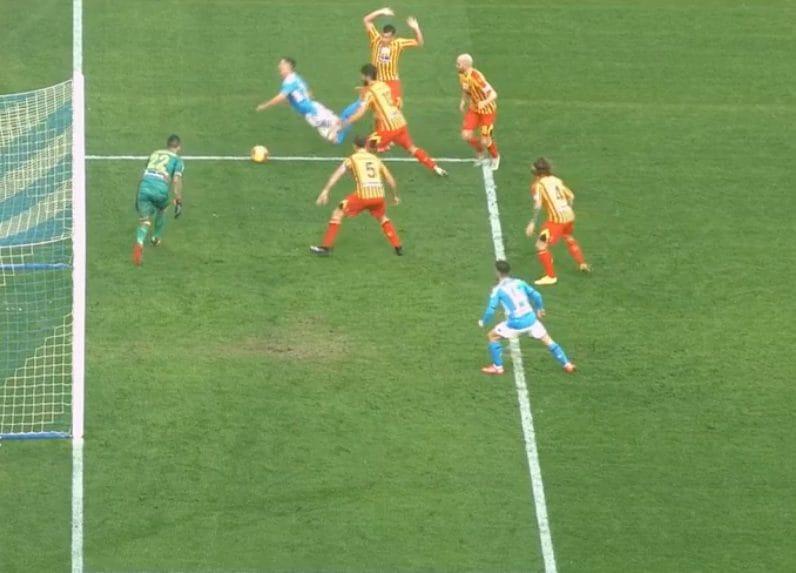 Milik Lecce Napoli penalty