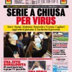 """Prima Pagina GdS: """"Serie A Chiusa per Virus"""""""